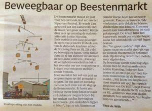Vet Groot Mobile in opbouw, artikel in Leidsch Dagblad door Theo de With, mei 2017