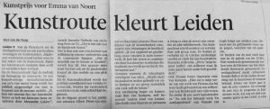Kunstroute Leidsch Dagblad Vera van der Kaap 26/9/'16