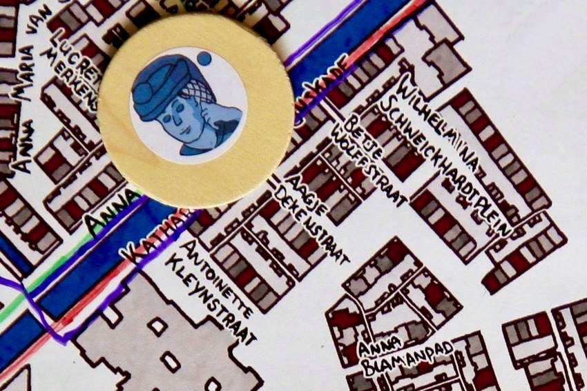 Detail van Wandel de Wijkkaart Stevenshof door Peen en Ui
