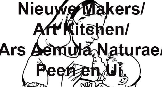 Folder van het Nieuwe Makers project door Peen en Ui bij ARS in Leiden.